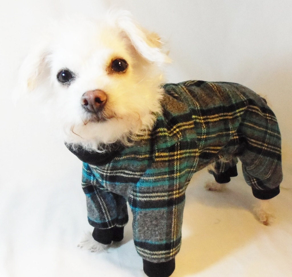Dog Pajamas Rockindogs Plaid Flannel Dog Pajamas Dog Clothes