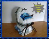 Diaper Carriage - Baby Shower Gift - Baby Shower Centerpiece - Diaper Cake - Boy