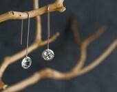 White Topaz  Earrings - Dangle Earrings - Elegant Drop Earrings - Lollipop Earrings with White Topaz - Free Shipping