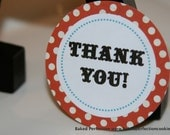 Round Favor Tag with Personal Message for Cookie Favors