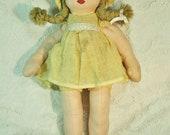 Vintage 1940's Cloth Doll