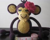 CROCHET PATTERN - Crochet Baby Boy or Girl Monkey Pattern - plush toy doll amigurumi brown tan stuffed animal step by step tutorial