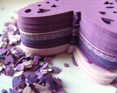 100,PURPLE,Paper butterflies,  confetti, scrap booking, paper craft, card making, tags , by DoodleDee2