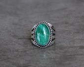 Native American Variscite Ring: Size 5.5