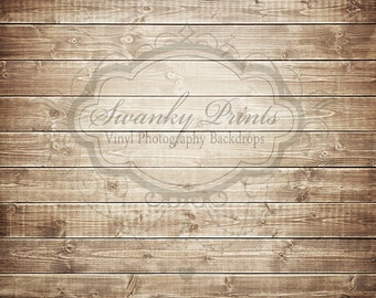5ft x 4ft Vinyl Photography Backdrop - Brown Washed Wood / Custom Photo Prop