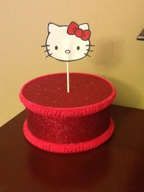 Cake Pop Hello Kitty stand/Topper Centerpiece display/Party/Table Decoration 8""