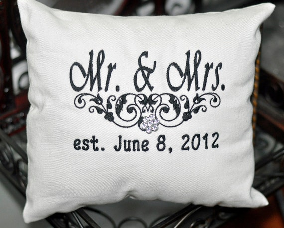 Ring Bearer Pillow Personalized