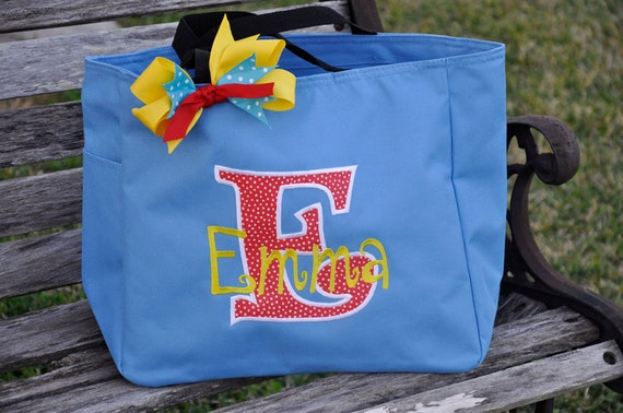 Personalized Tote with Large Letter Applique