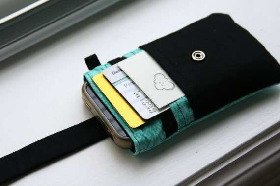 iPhone wallet / iPhone Sleeve / iPhone Case / iPhone 4s / iPhone 5s / iPhone 5c - Teal