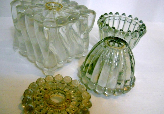 Crystal Lamp Parts Glass Art Steampunk architectural salvage