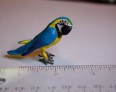 Reserved for Leena  Miniature Parrot Figurine