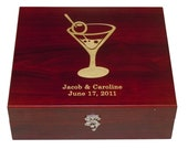 Personalized Five Piece Martini Set: Gift for Wedding, Bridesmaid, Housewarming, Corporate Clients