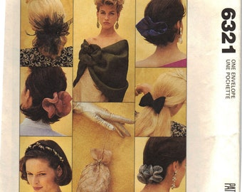 1993 McCall's UNCUT Hair Accessory and Stole Pattern