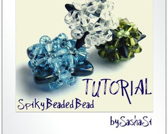Beading Tutorial DOWNLOAD - Spiky Sparkly Beaded Bead