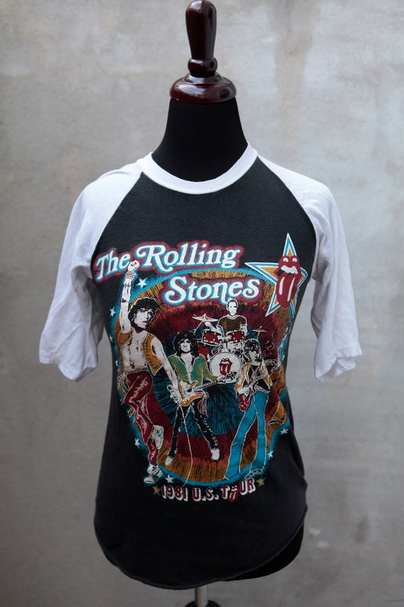"RESERVED original ROLLING STONES 1981 Tour Shirt - ""Tattoo You"" Tour - Size Extra Small"
