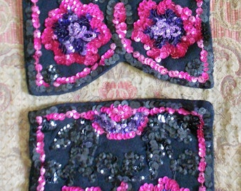 1940's Sequined Dress Pockets