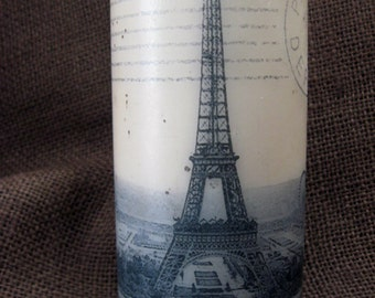 1912 Vintage French Postcard 6 Inch Pillar Candle