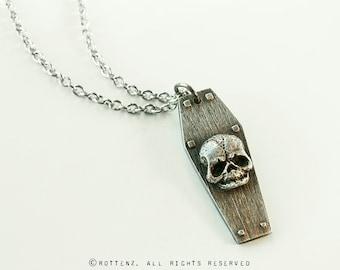 Foetus Skull Coffin Pendant