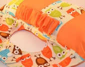 Owl Bottle Prop, Ideal for Twins and multiples, Bib for Boy
