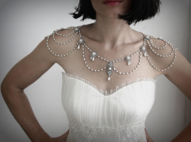 Necklace for the shouldersbackdrop for Bracelet for wedding dress