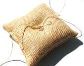 Burlap Ring Bearer Pillow, Rustic, Burlap, Country Wedding, Barn Wedding, Fall Wedding, Bridal Party, Eco Wedding