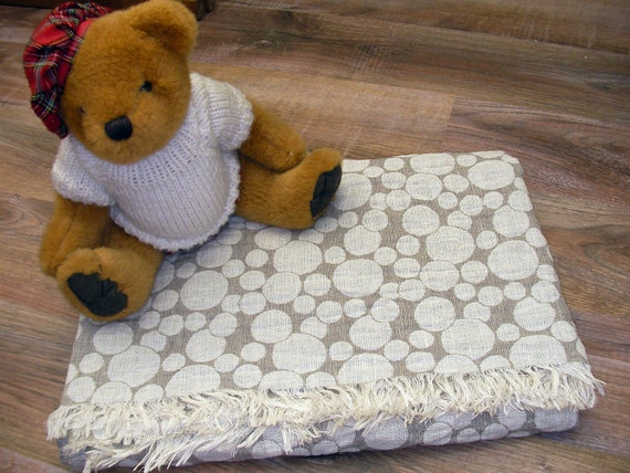 Linen Crib Blanket Grey Gray ECO