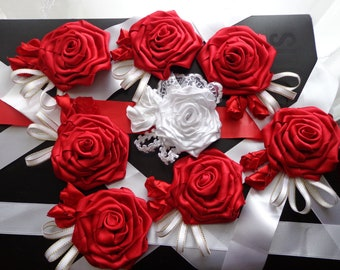 Bracelets with flowers and decoration for the bachelorette party, girl party or Bridesmaids Bracelets, FOR THE ORDER. Price for the 1 pcs.