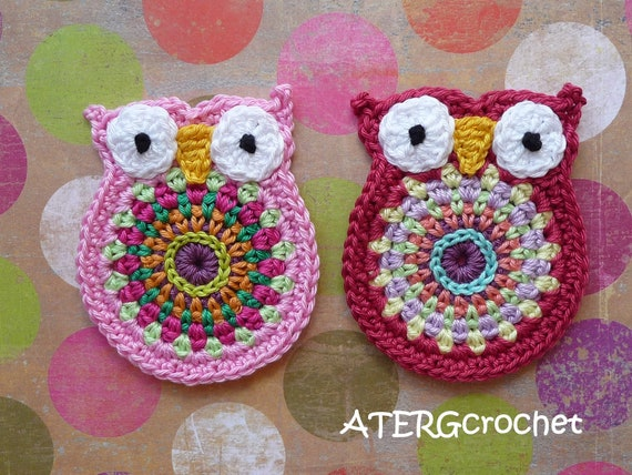 Owl 'big brother' twin set crochet application by ATERGcrochet