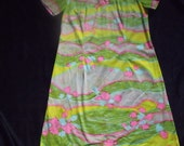Psychedelic Neon Patterned Sixties Dress