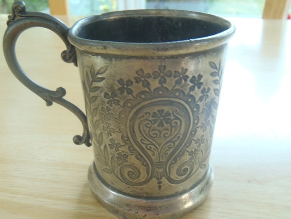 Victorian Child's Cup Engraved Lillie