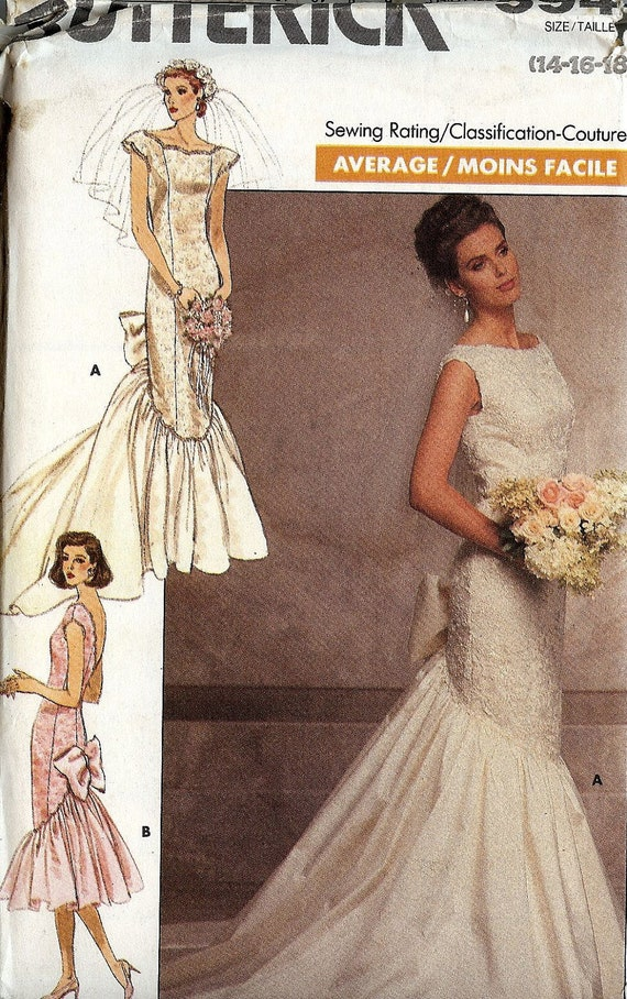 Pattern butterick 5941 wedding dress fitted panelled with Butterick wedding dress patterns