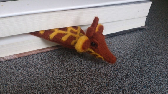 Needle felted bookmark made as a giraffe Reserved to Lauren