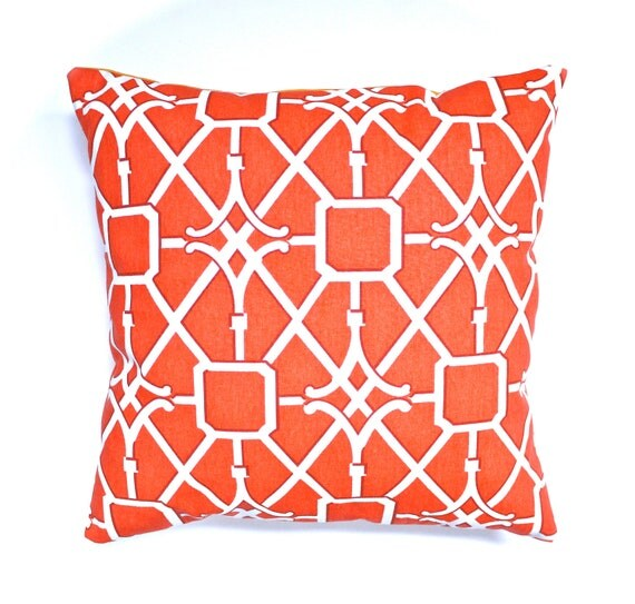 Red cushion cover red pillow cover lattice cushion lattice pillow trellis cushion red and yellow decorative pillow throw pillow