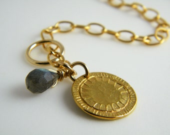 Gold coin bracelet gold filled bracelet antique style jewelry
