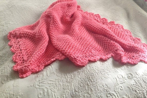 Knitting Pattern For Honeycomb Baby Blanket : Hand Knit Baby Blanket in Brioche Honeycomb stitch by DarellaBaby