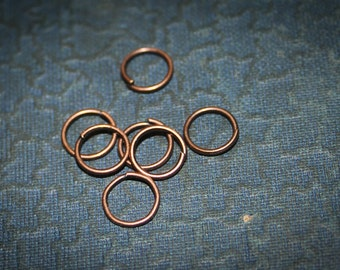 50 NEW Jumpring Antique copper -, Findings- Jump Rings , 0.8mm thick 8mm closed