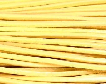 1mm Yellow genuine leather cord - 10 feet (753) - Flat rate shipping