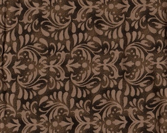 """108"""" Quiltbacking, Extra Wide Fabric, Floral Fabric, Brown Floral Fabric, Elegant Fabric, Brown Fabric, Westrade Collection, 00904"""