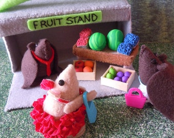 Floyd the fruit bat and his fruit stand