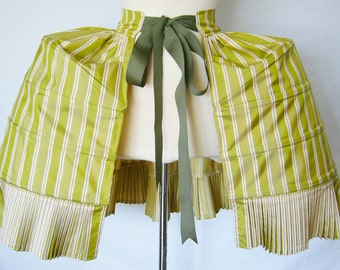 Custom Fabric Pannier w/ Watteau Style Rear - Pleated Ruffle, Structured Undergarment