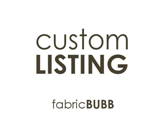Custom Listing for Jude