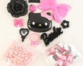 "SALE - Petit Deco Kawaii ""Dream Wave"" Pink / Black Kit"