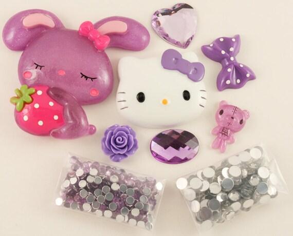 """SALE - Petit Deco """"Mon Chou Chou"""" Purple Kit"""