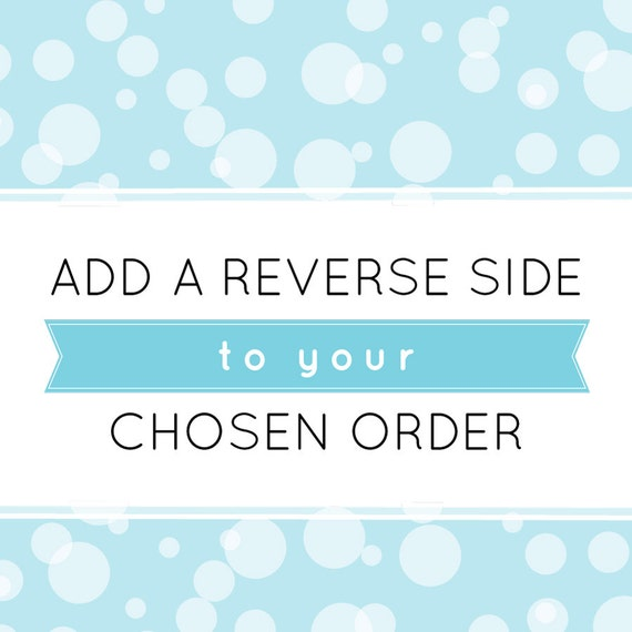 Add a patterned reverse side to your chosen order