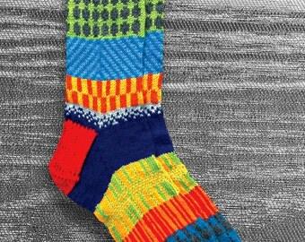 Socks, Hand Knit Socks, Men, Women, Unique Socks, Boho Socks, Hipster Socks, Icelandic Design, Hand Knit Socks, Knit Socks -MADE TO ORDER