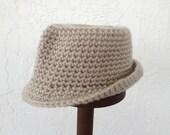 Crochet  FEDORA hat - photo prop - newborn, infant, baby, toddler, child, teen