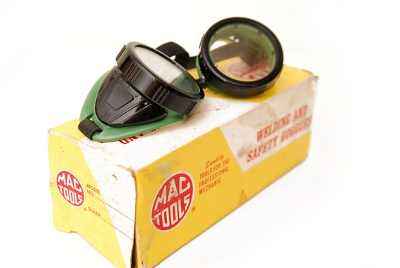 Green Welding & Safety Goggles, NOS by Mac Tool, with Box
