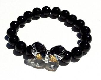Mco Black Butterfly Bracelet