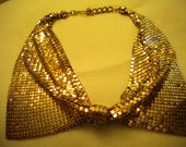 1940s gold toned necklace