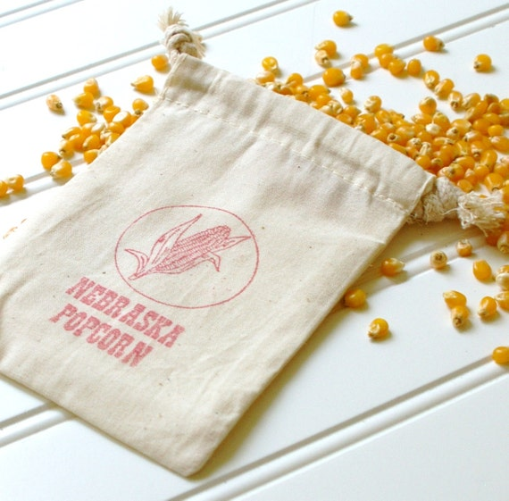 Popcorn Wedding Favor Bags Set Of 100 Cotton Muslin